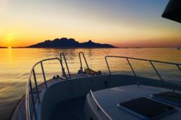 Båttur med Landegode i solnedgang!